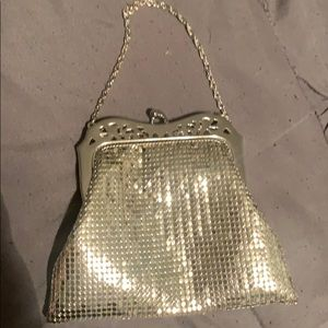 Silver metal clutch